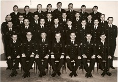 Traffic Tech course PL-5 CFB Borden - circa1973. Bruce Stringer is front row left.  Photograph courtesy of Greg Sheen.