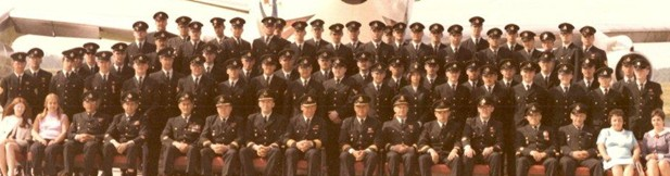 2AMU Trenton 1973.  Corporal Stringer is centre row (it's sort of doubled) eleventh from right. Courtesy of Greg Sheen.